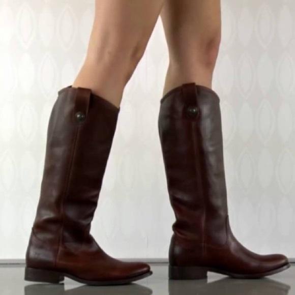 2629db1912f Frye Dark Brown Melissa Button Leather Boot 5.5
